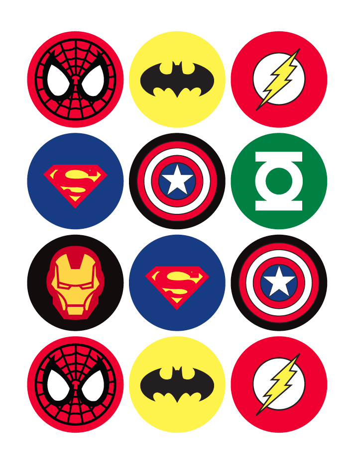 Superhero logos | Party: Super Heroes | Pinterest