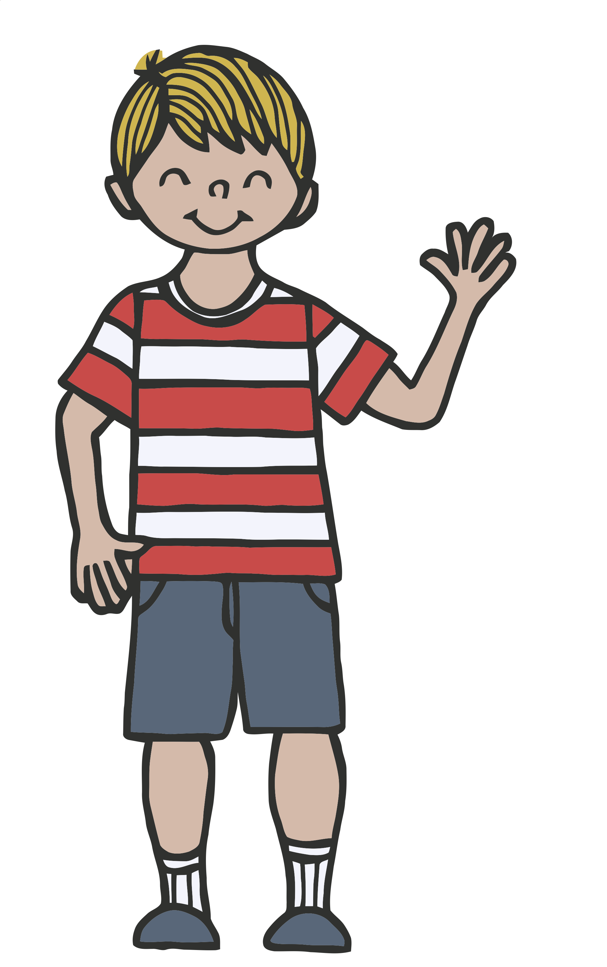 previewPerson Waving Goodbye Clipart