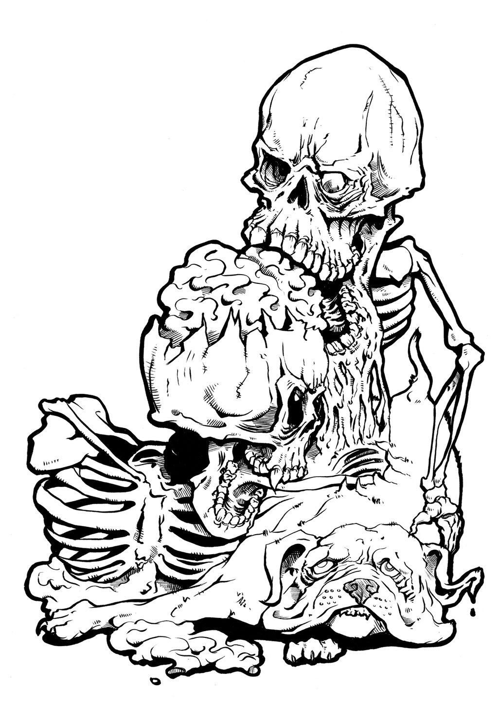 Line Drawing Skull : Skull line art cliparts