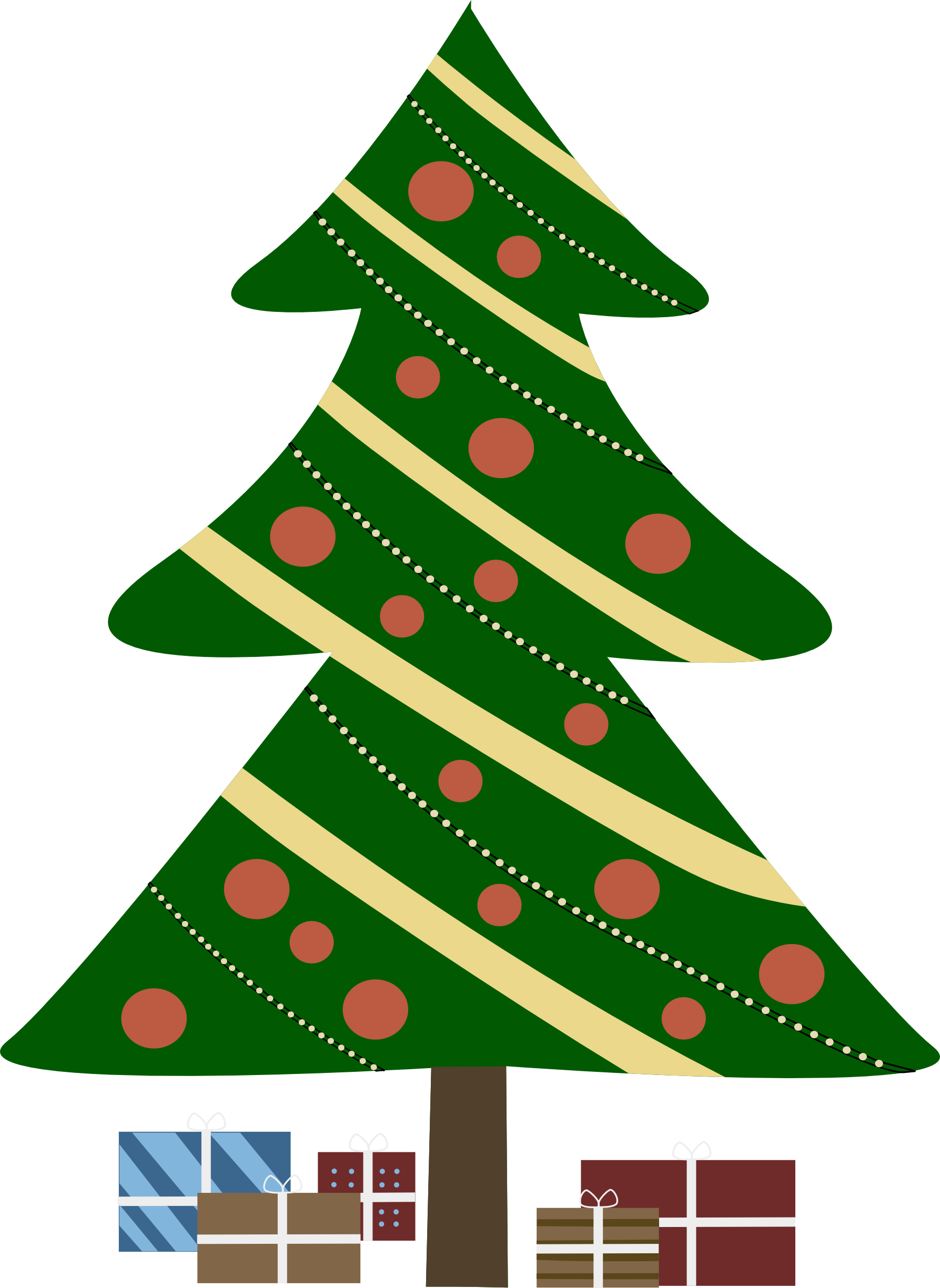 Christmas Tree Cartoon Clip Art - Cliparts.co