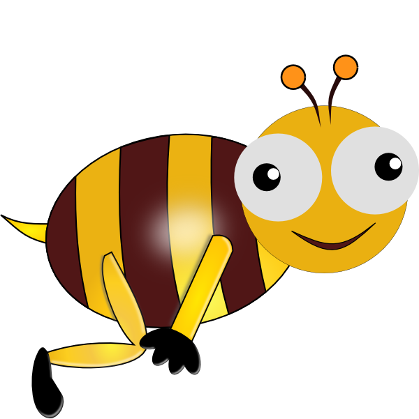 Bumble Bee Smiling clip art - vector clip art online, royalty free ...