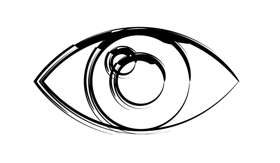 Line Drawing Eye : Eye newhairstylesformen