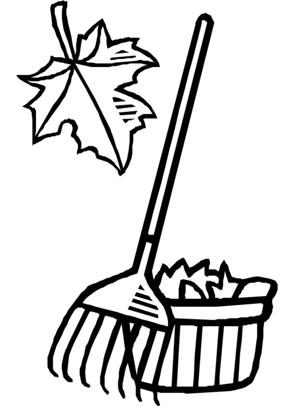 rakes coloring pages - photo#8