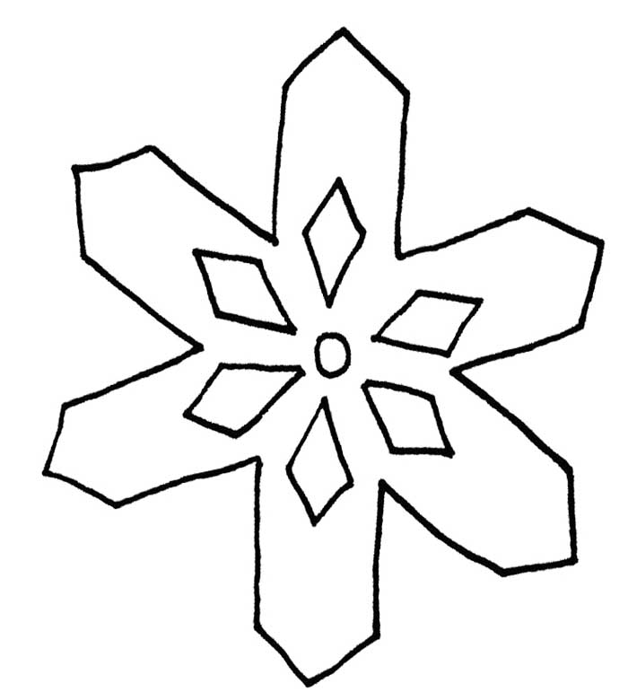 Simple Snowflake Line Art : Snowflake outline cliparts