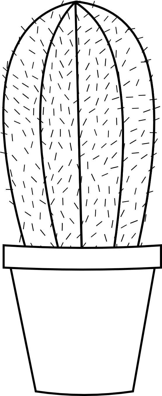 Cactus Flower Line Drawing : Cactus cartoon images cliparts