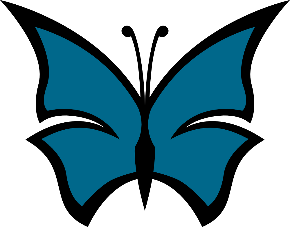 Blue Butterfly Images Cliparts Co