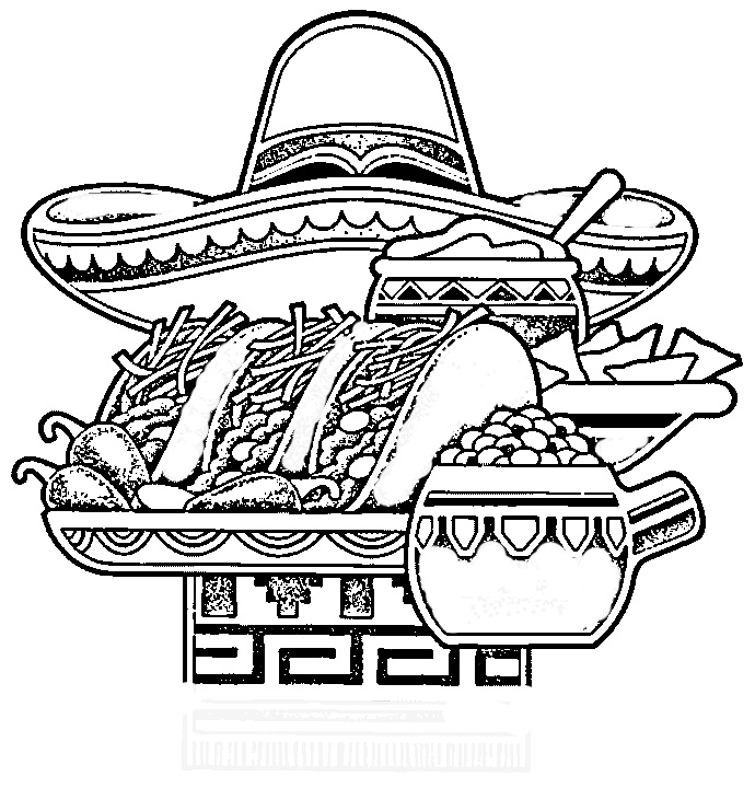 free printable taco coloring pages - photo#34