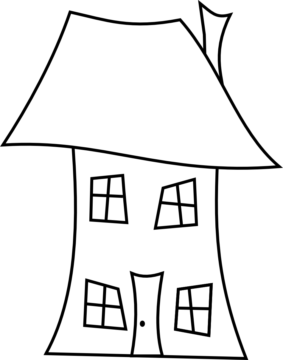 House Line Art Clipartsco