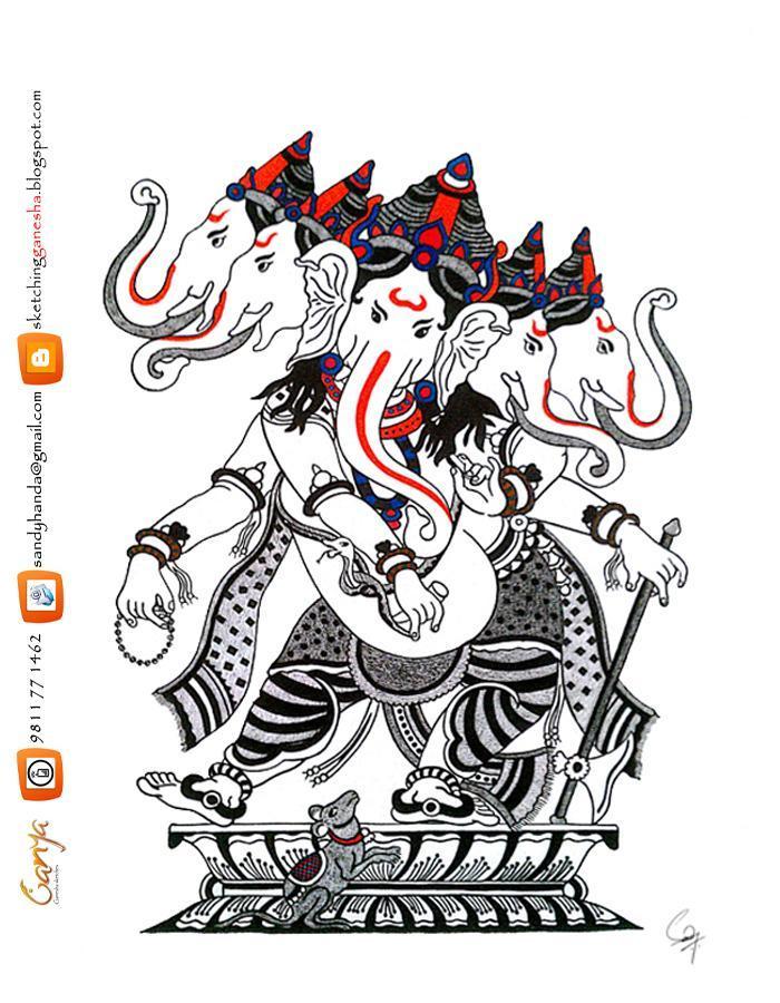 Ganesh Ji Sketch - Cliparts.co