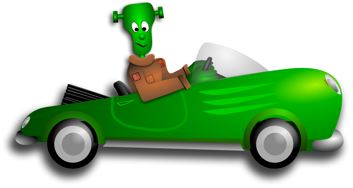 Little Frankenstein Driver Clipart by Merlin2525 : Car Cliparts ...