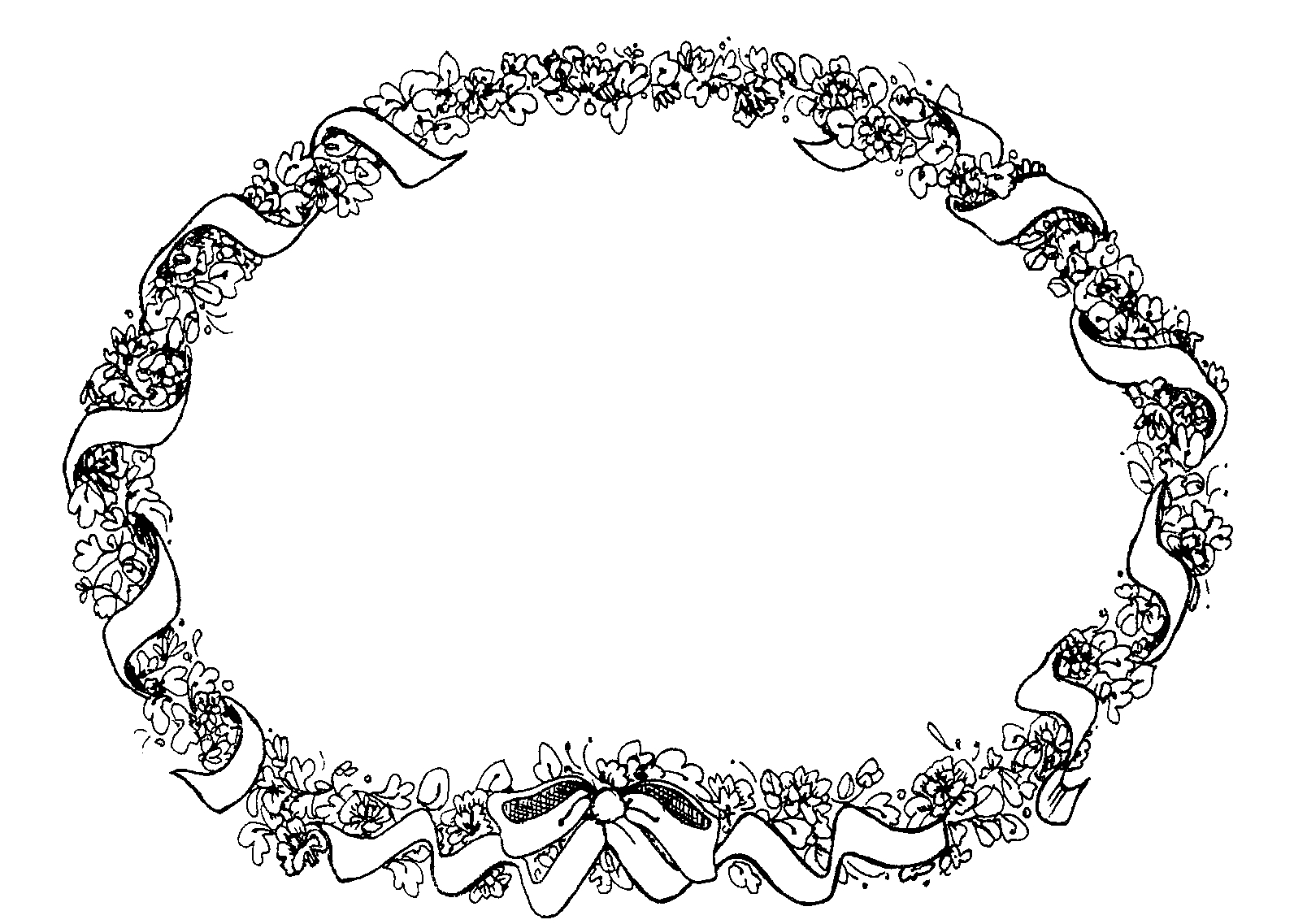 Floral page borders cliparts border oval floral ribbon mormon share mightylinksfo