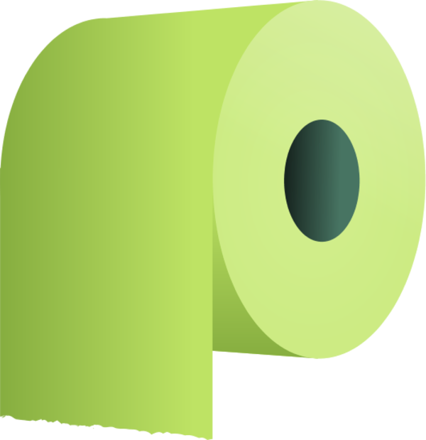 Toilet Paper Clipart on Yellow Page Borders