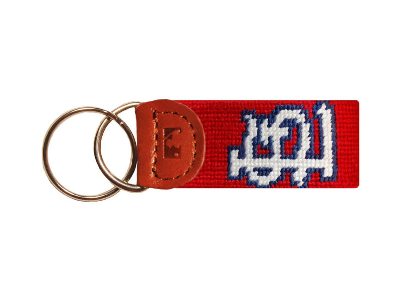 St. Louis Cardinals Needlepoint Key Fob | Smathers & Branson