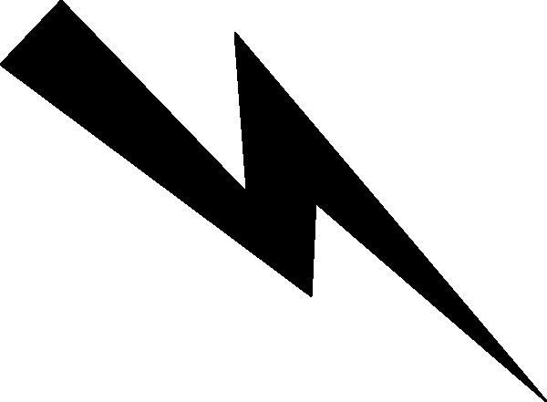 Black Lightning Bolt clip art - vector clip art online, royalty ...