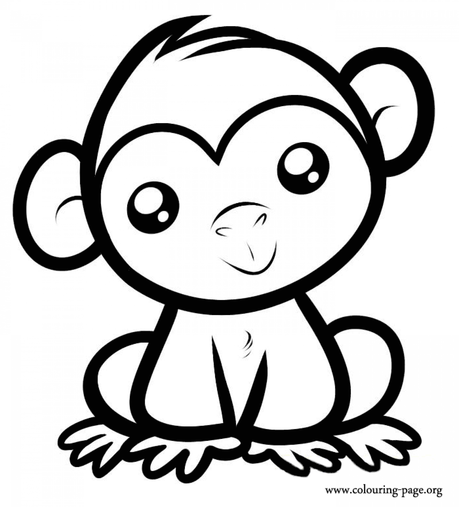 cartoon monkeys coloring pages - photo#17