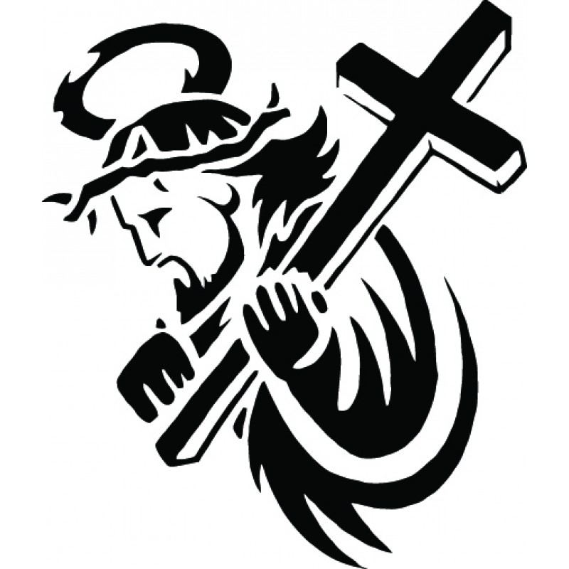 free clip art jesus carrying cross - photo #39