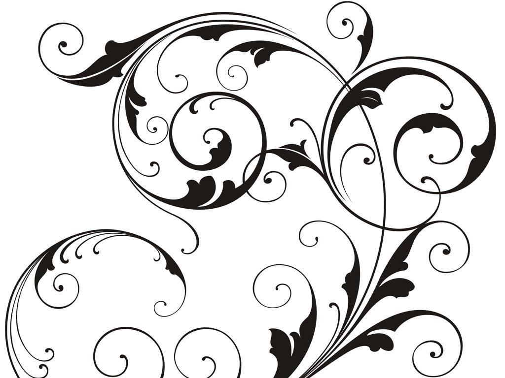 Swirl Art Designs : Vector swirl cliparts