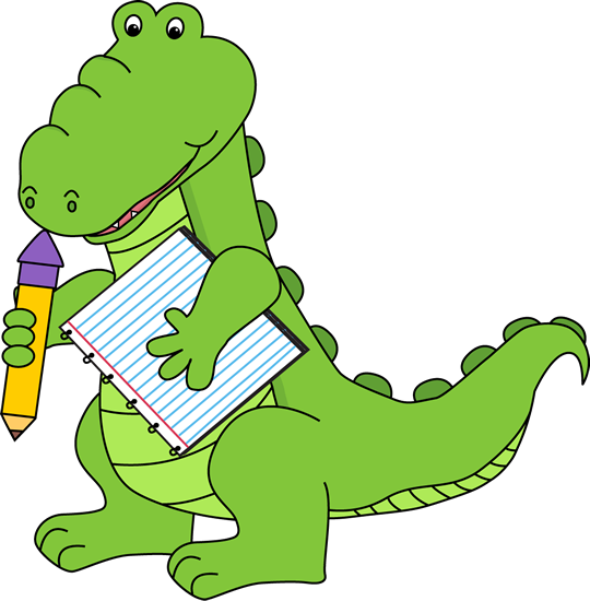 School Alligator Clip Art - School Alligator Image