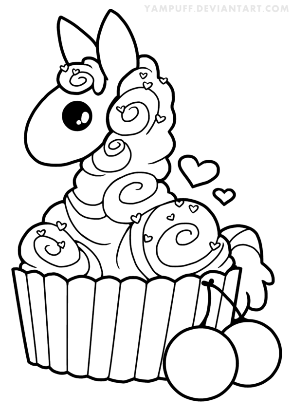 Cute Llama Pages Coloring Pages