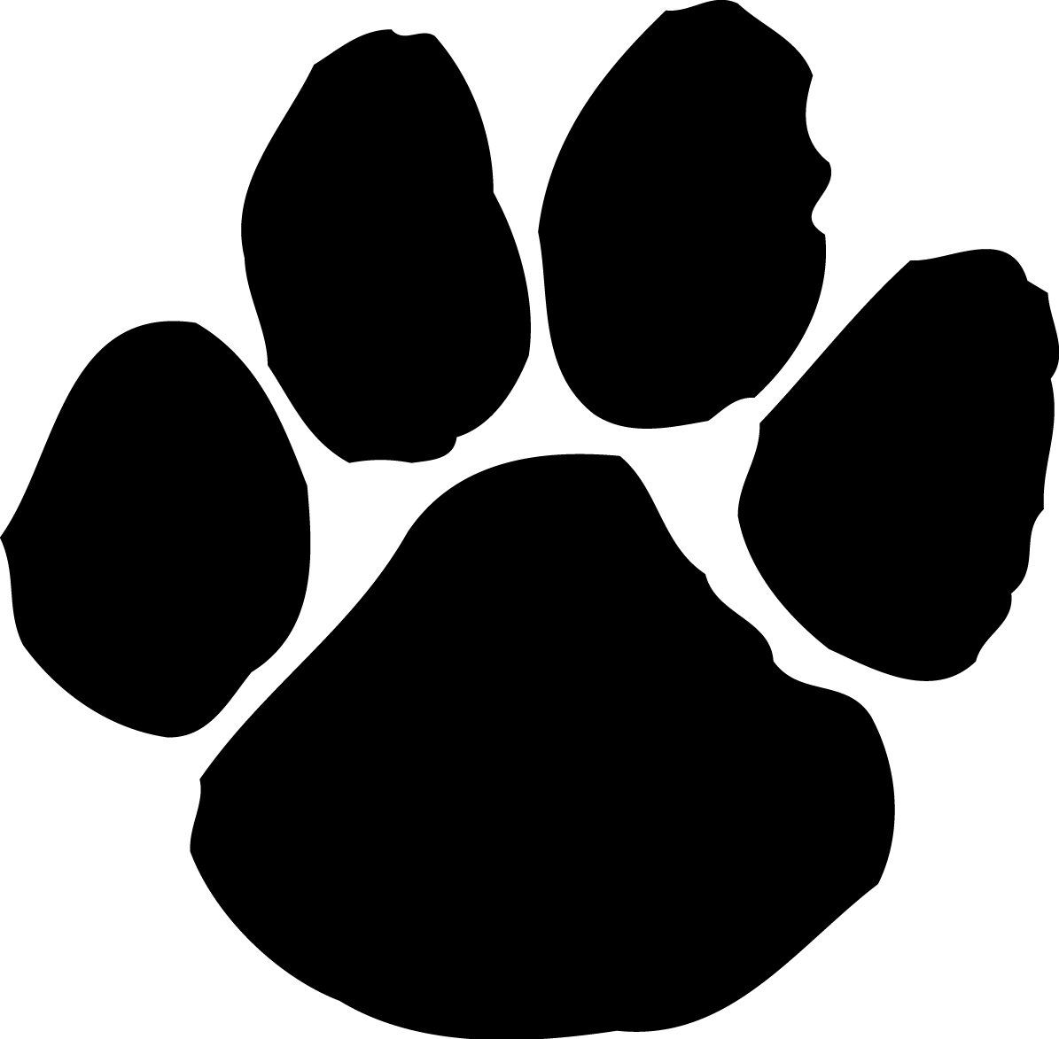 Dog Paw Print Template Clipartsco