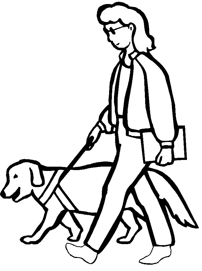 People With Disabilities Free Colouring Pages
