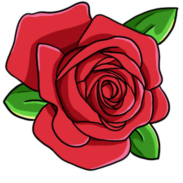 Red Rose Clip Art L image - vector clip art online, royalty free ...