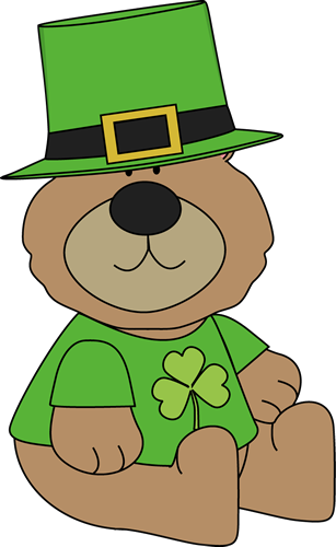 Saint Patrick's Day Bear Clip Art - Saint Patrick's Day Bear Image
