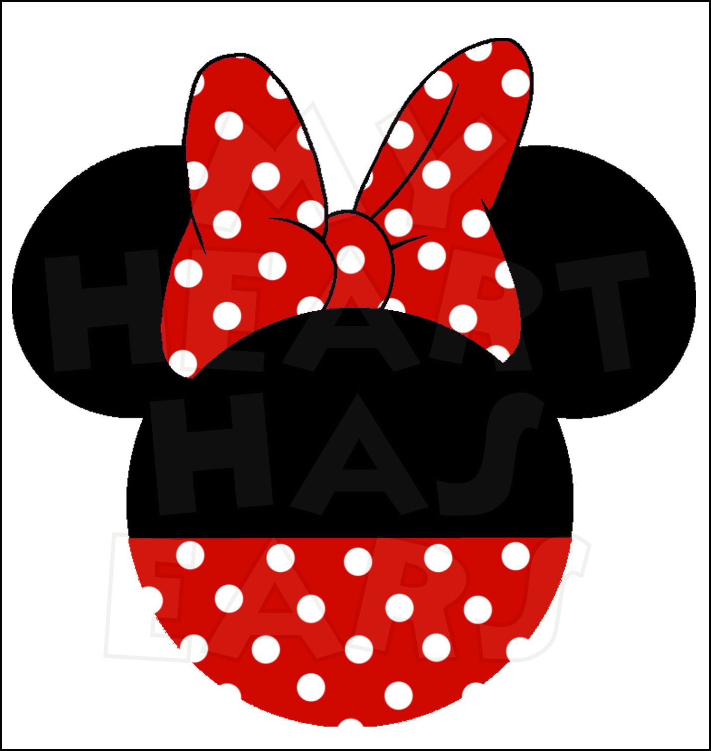 minnie mouse bow clipart clipartsco