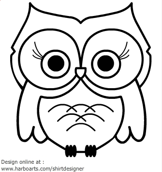 Owl Outline Clip ArtBaby Owl Clipart Black And White