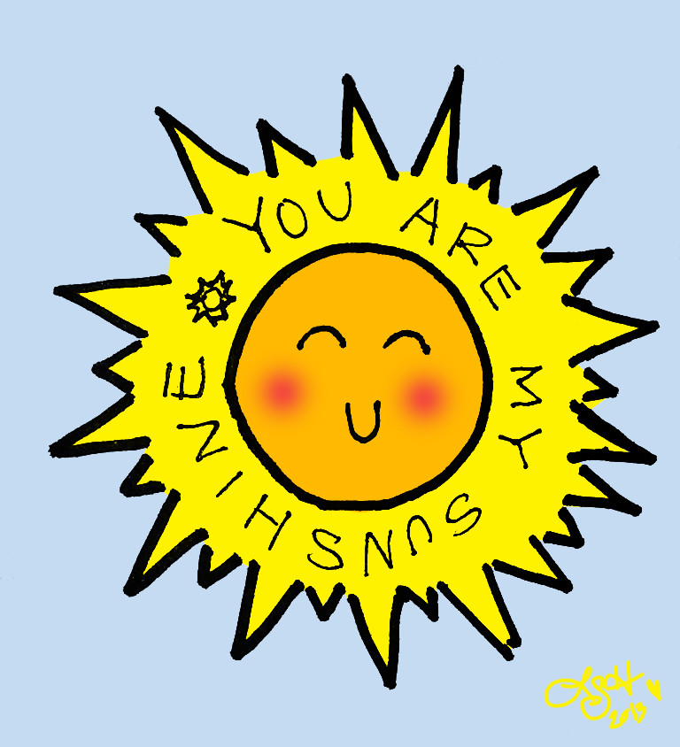 happy cliparts sunshine clip sun clipart doodle viciously sweet library don