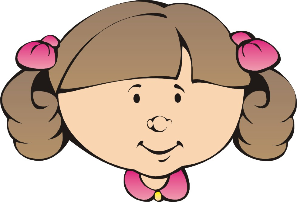 clipart little girl face - photo #13