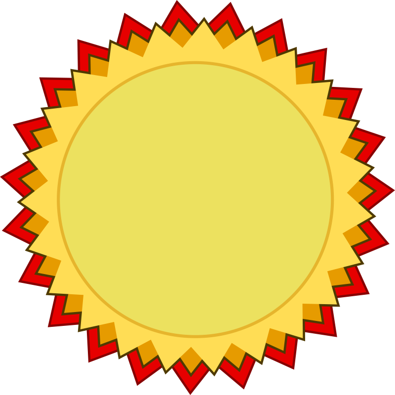 Blank Award Of Medal And Achievement - Free Clipart - BCDownload.