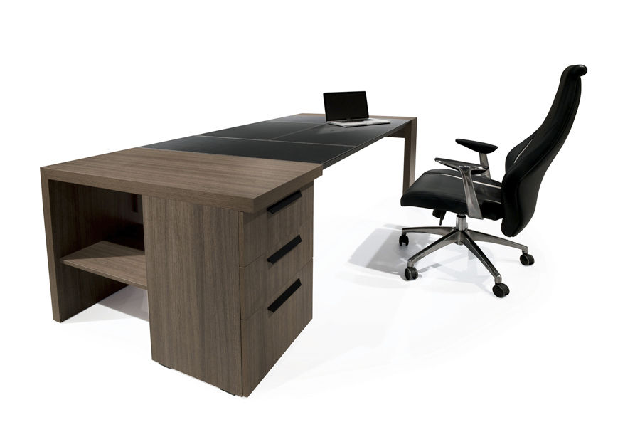 Executive desk / contemporary / in wood / leather - ROYAL ...