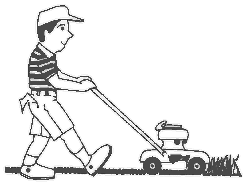 Lawn Mower Clipart Black And White Pix for > lawn mower logo clip