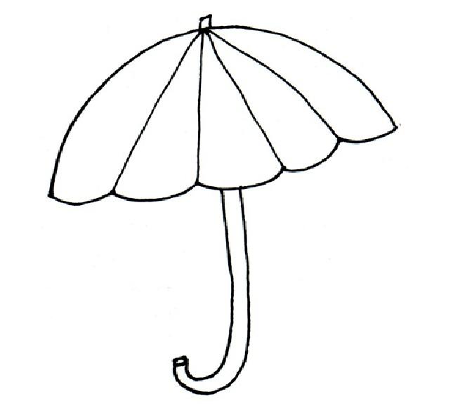 Umbrella Template Printable Cliparts Co