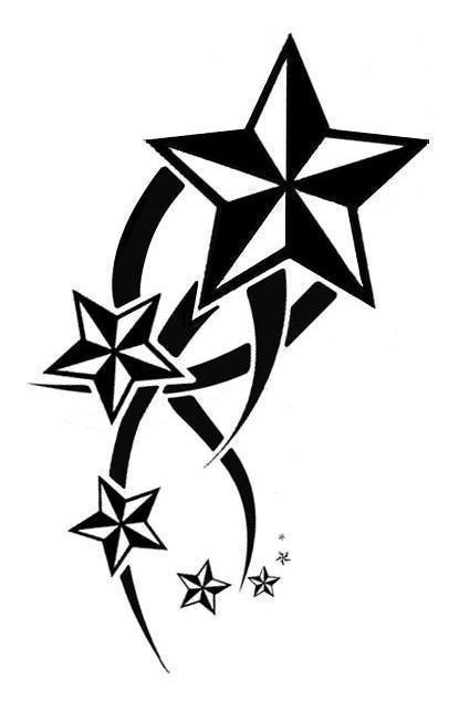 nautical star outline. Black Bedroom Furniture Sets. Home Design Ideas
