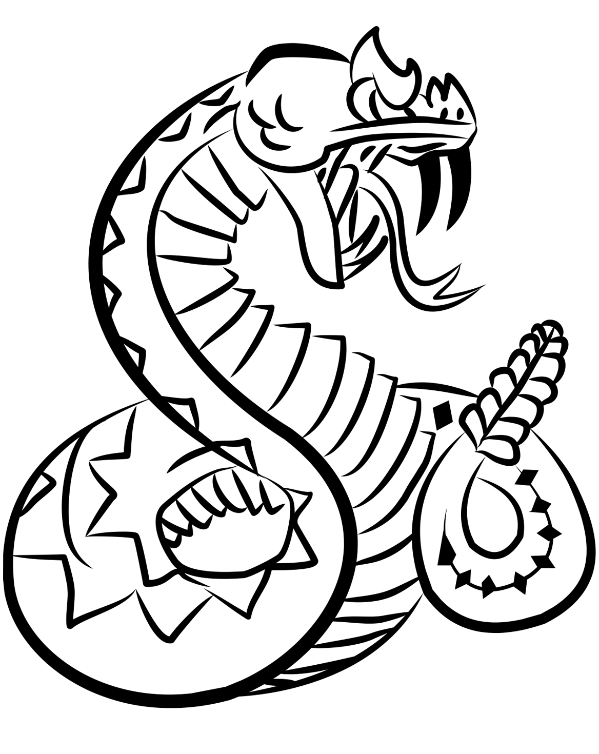 Rattlesnake Coloring Page | Coloring pages, Snake crafts, Rattlesnake | 1470x1168