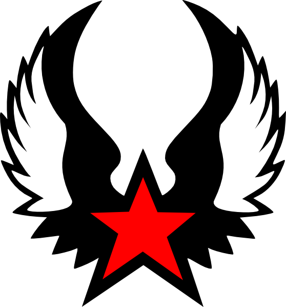 Red Winged Star clip art - vector clip art online, royalty free ...