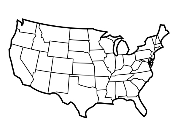 clip art map united states - photo #28