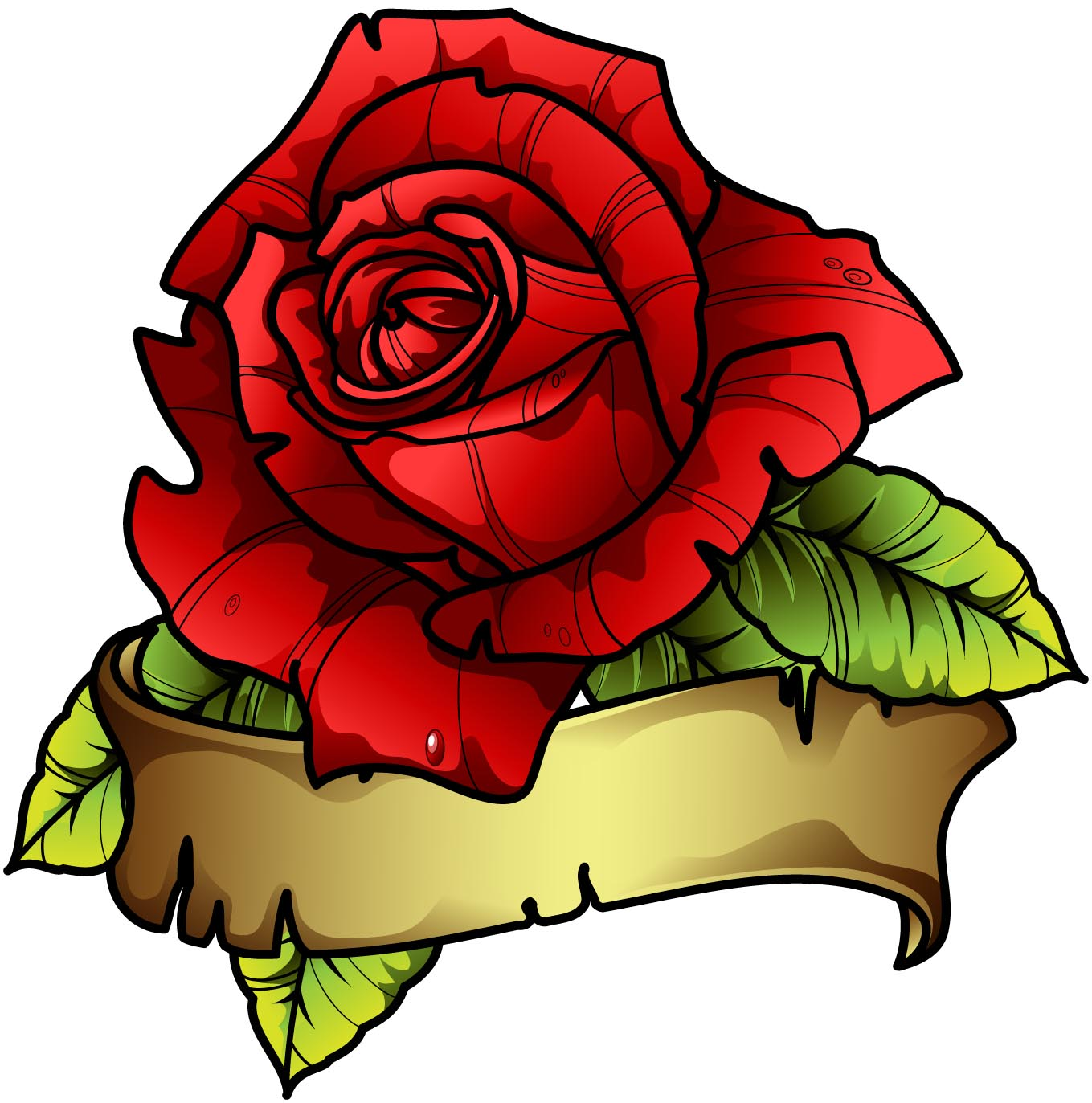 tattoos for gt tattoo drawings of roses with banners