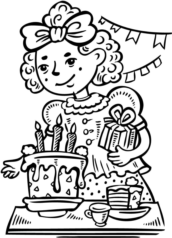 Kleurplaten Verjaardag Mama 36 Jaar Birthday Images For Girls Cliparts Co