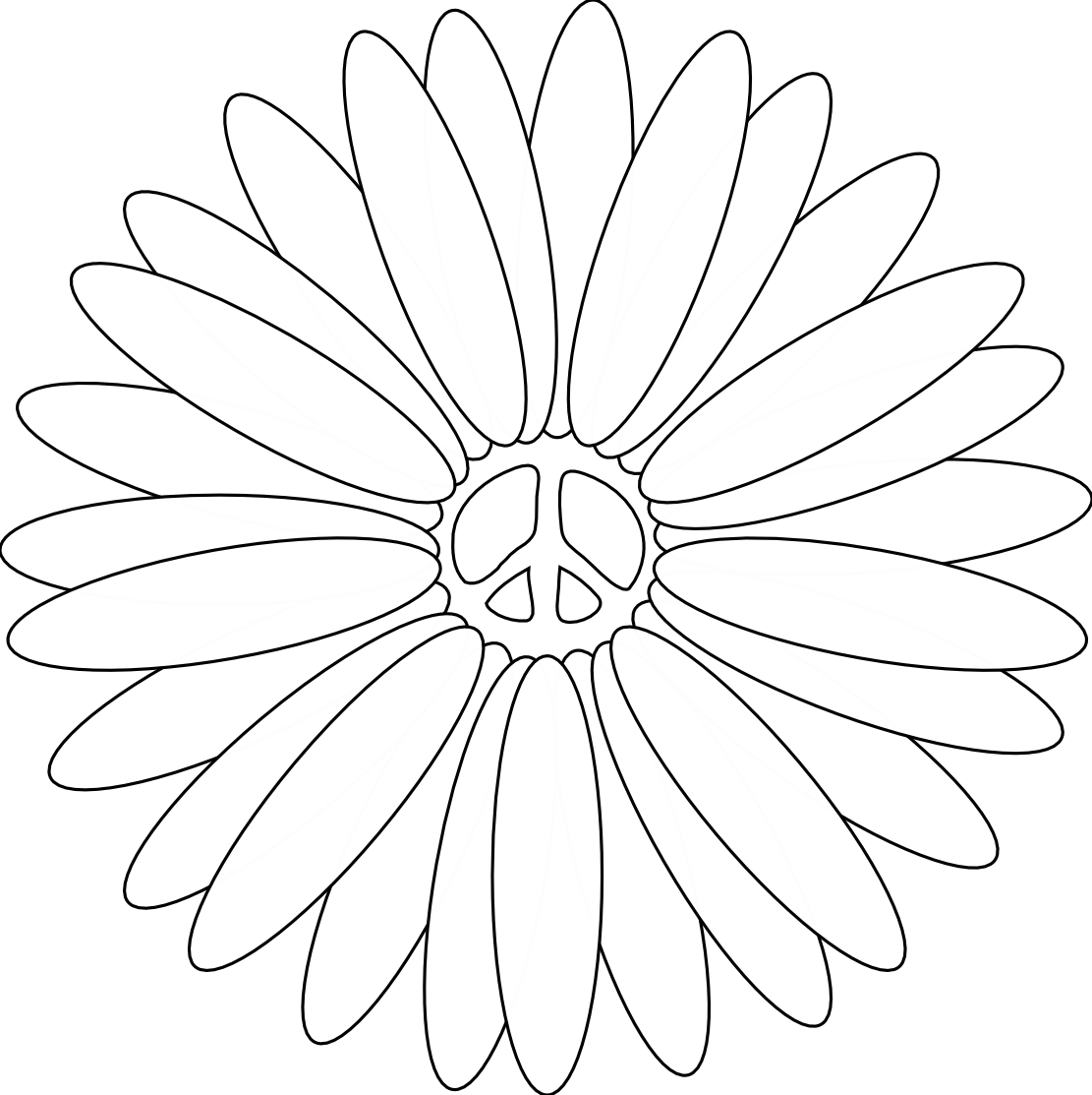 Printable Coloring Pages Of Peace Signs And Hearts. formas ...