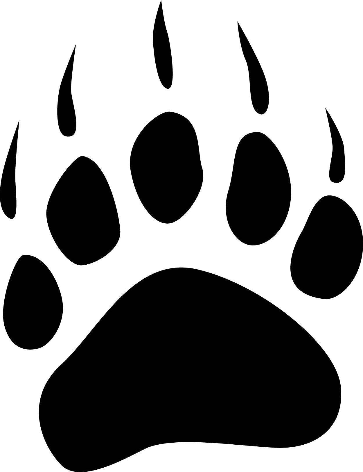 Brown Bear Paw Prints Bear paw print    Brown