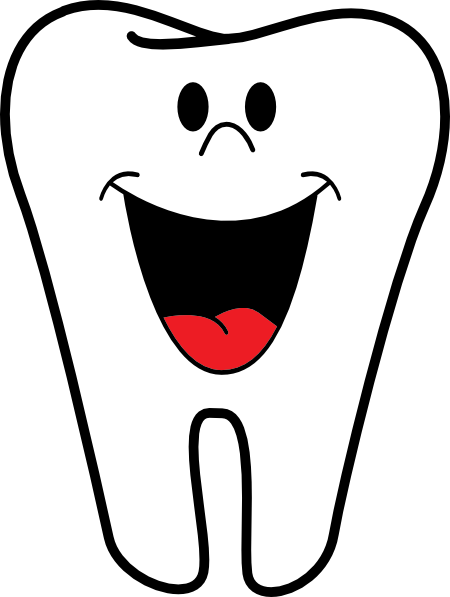 Smiling Tooth clip art - vector clip art online, royalty free ...
