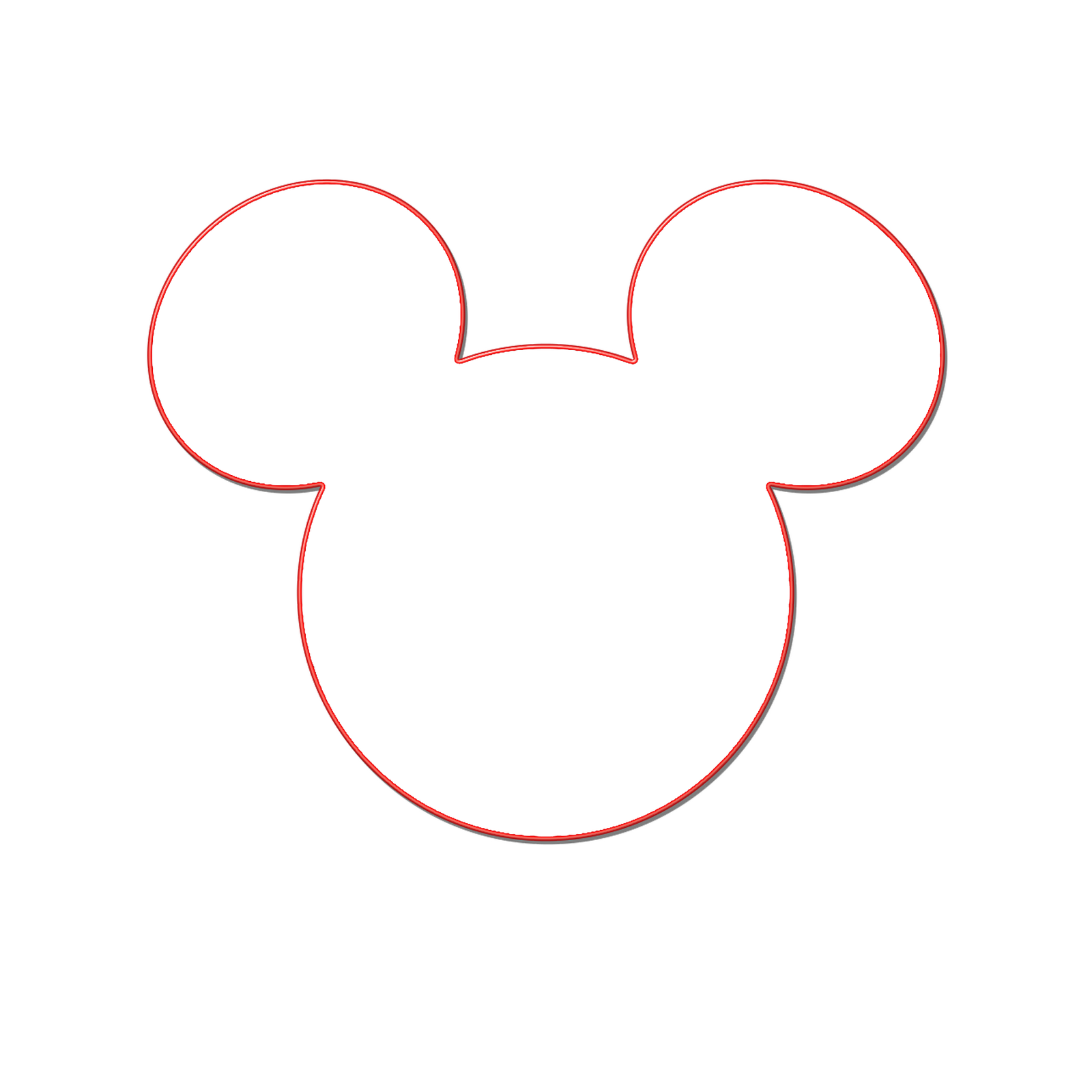 Minnie Mouse Bow Template