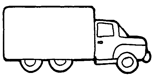 Delivery Truck Clipart Black And White Clipart Panda