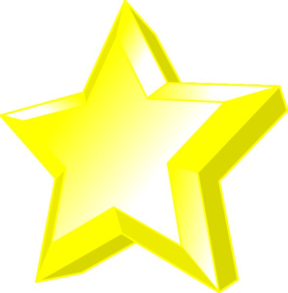 3d Star clip art - vector clip art online, royalty free & public ...