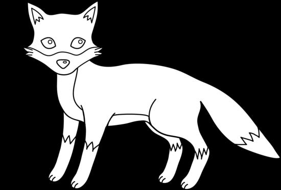 Line Art Fox : Fox line art cliparts