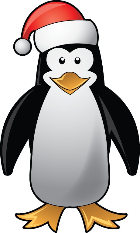 Free Clip-Art: Holiday Clip-Art » Christmas » Christmas Penguin