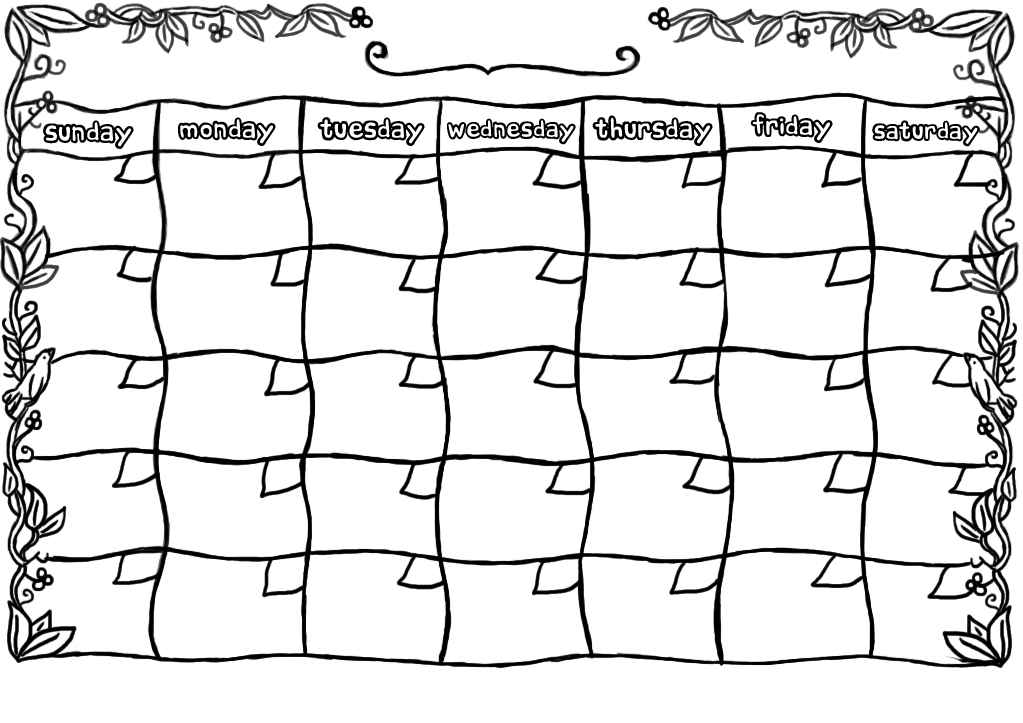 Printable Calendar Blank Printable Editable Blank Calendar 2017 – Free Blank Calendar